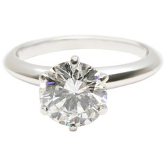 Tiffany & Co. Diamond Solitaire Engagement Ring in Platinum '1.54 Carat F VVS2'