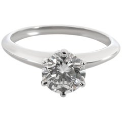 Tiffany & Co. Diamond Solitaire Engagement Ring in Platinum G VVS2 1.17 Carat