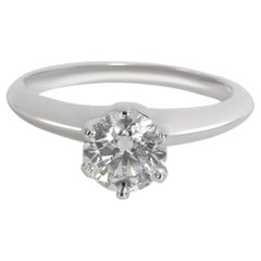 Tiffany & Co. Diamond Solitaire Engagement Ring in Platinum H VVS2 1.01 CTW