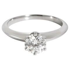 Tiffany & Co. Diamond Solitaire Engagement Ring Platinum I VVS1 0.81 CTW