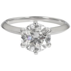 Tiffany & Co. Diamond Solitaire Ring in Platinum I SI1 2.61 Carat