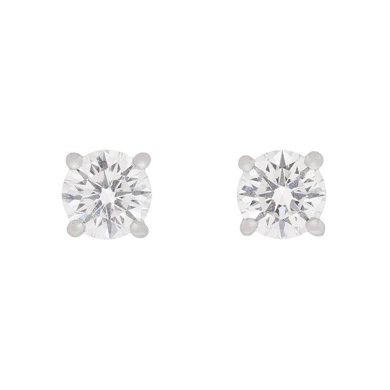 Tiffany & Co. Diamond Stud Earrings For Sale