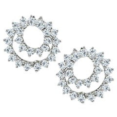 Tiffany & Co. Diamond Swirl Earrings