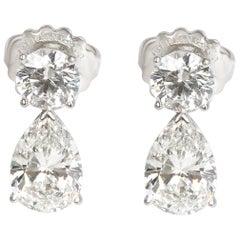 Tiffany & Co. Diamond Teardrop Earring in Platinum GIA Certified 6.69 Carat
