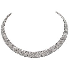 Tiffany & Co. Diamond Vannerie Choker Necklace