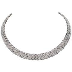 Tiffany & Co. Diamond Vannerie Choker Necklace