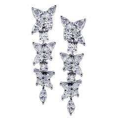 Tiffany & Co. Diamond Victoria Dangle Earrings
