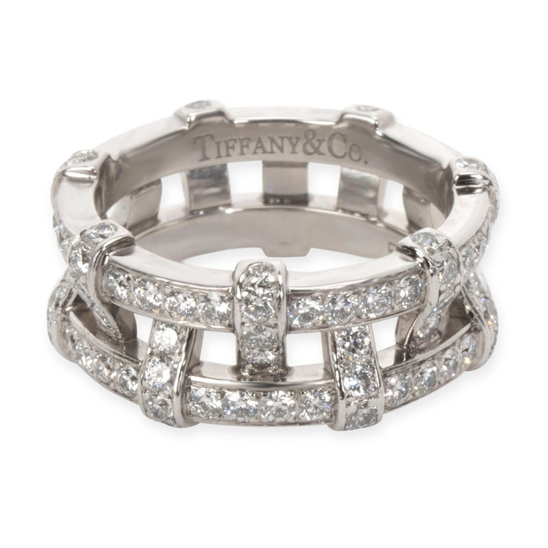 Tiffany & Co. Diamond Weave Eternity Band in Platinum '1.40 Carat' In Excellent Condition For Sale In New York, NY
