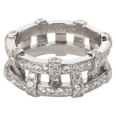 Tiffany & Co. Diamond Weave Eternity Band in Platinum '1.40 Carat'
