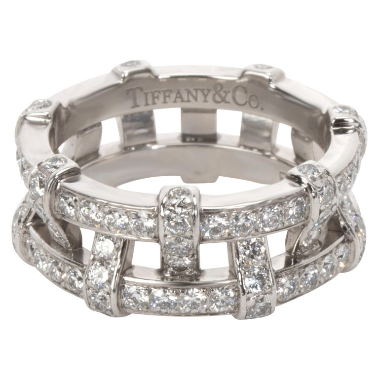 Tiffany & Co. Diamond Weave Eternity Band in Platinum '1.40 Carat' For Sale