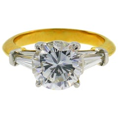 Tiffany & Co. Diamond Yellow Gold Engagement Ring 2.02-carat F VVS1 GIA Report