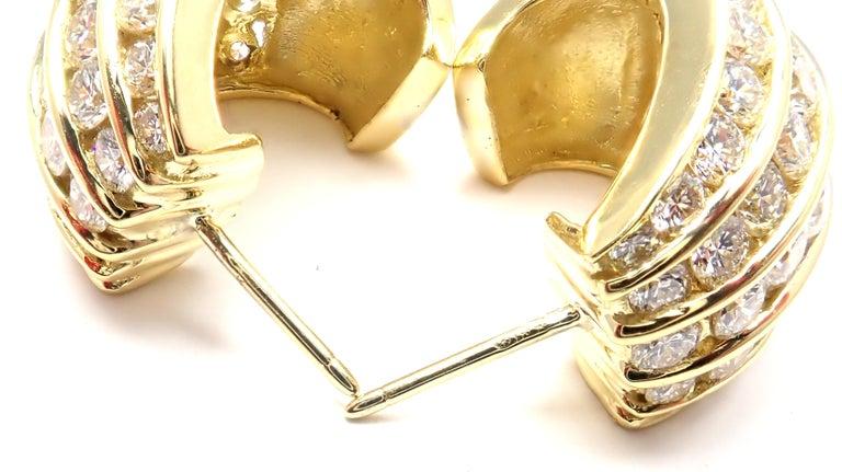Tiffany & Co. Diamond Yellow Gold Hoop Earrings For Sale 7