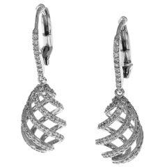 Tiffany & Co. Diamonds 18 Karat White Gold Paloma Picasso Studs Earring