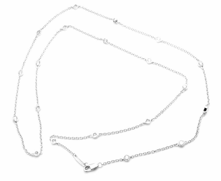 Tiffany & Co. Diamonds by The Yard Platinum Chain Necklace For Sale 3
