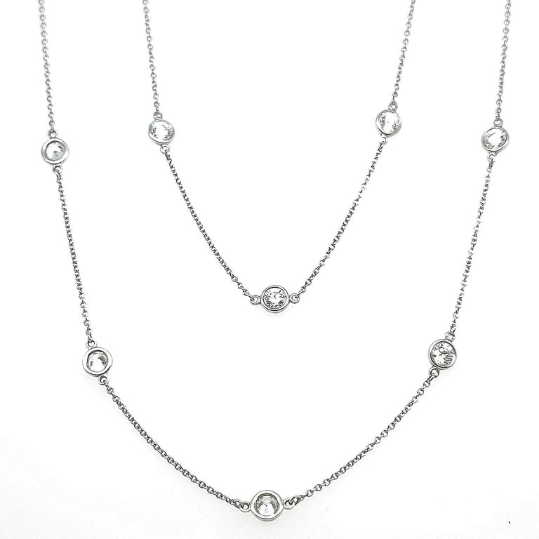 Round Cut Tiffany & Co. Diamonds by The Yard Necklace For Sale