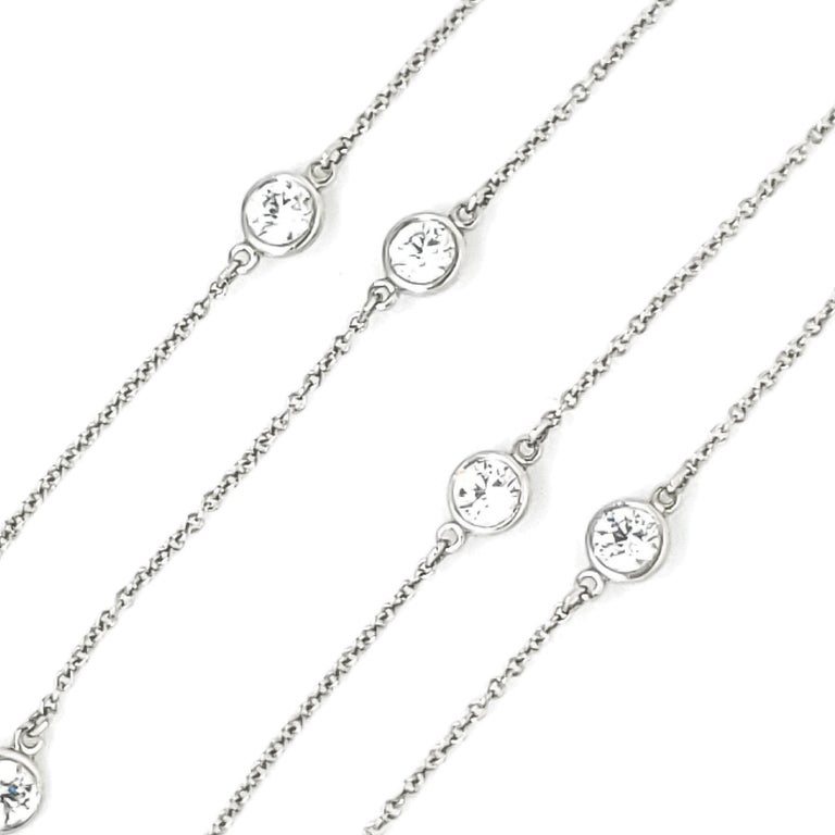 Tiffany & Co. Diamonds by The Yard Necklace In Excellent Condition For Sale In New York, NY