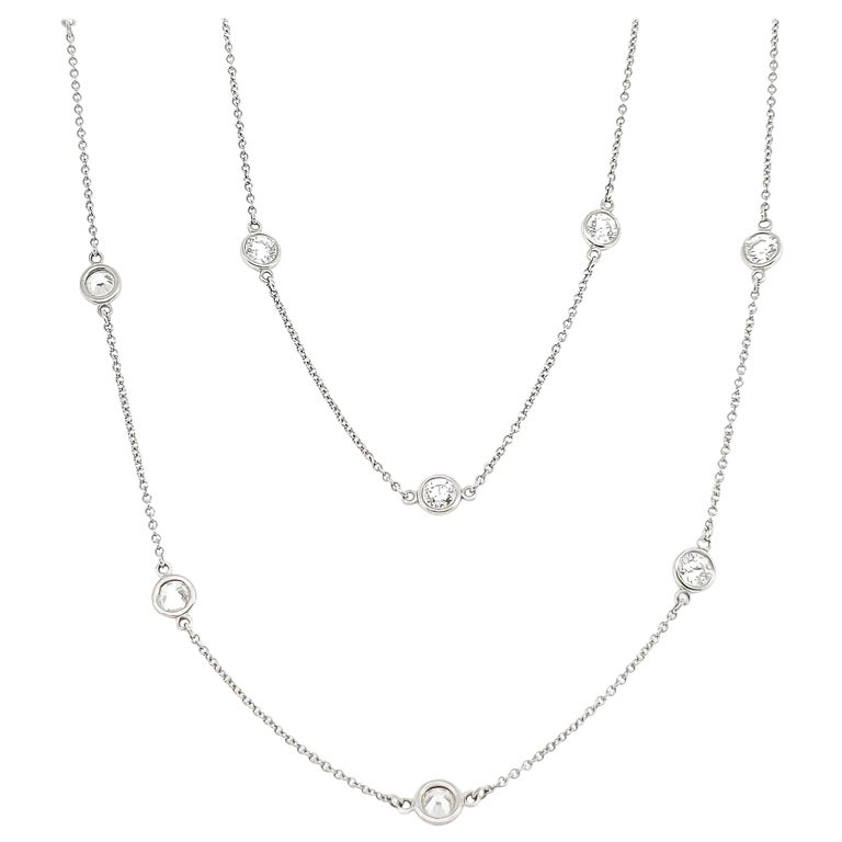 Tiffany & Co. Diamonds by The Yard Necklace For Sale