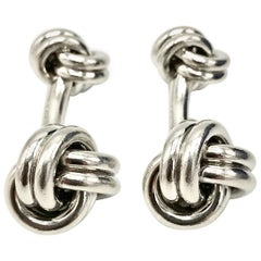 Tiffany & Co. Double Knot Platinum Cufflinks