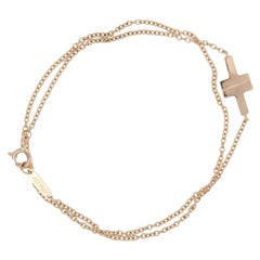Tiffany & Co. Double T Wrap Bracelet Rose Gold, 18 Karat Cable Chain Medium