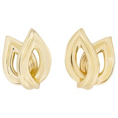 Tiffany & Co. Double Wing Gold Earrings