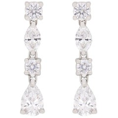 Tiffany & Co. Drop Jazz Diamond Earrings