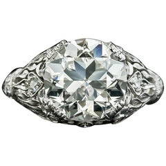 Tiffany & Co. Early Art Deco 3.68 Carat Diamond Engagement Ring, GIA J VS1