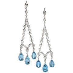 Tiffany & Co. Earrings with Aquamarine and Diamond