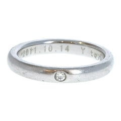 Tiffany & Co Elsa Perett Platinum & 1 Diamond Band Ring