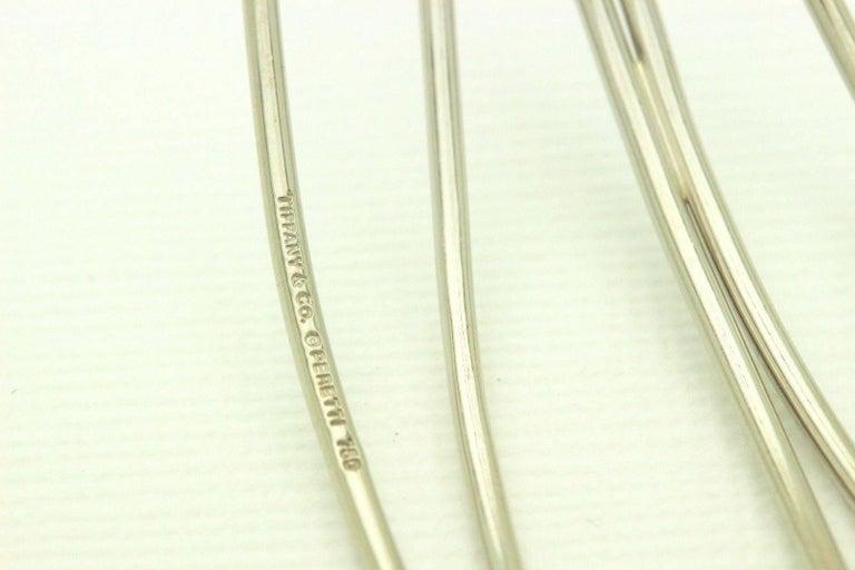 Tiffany & Co. Elsa Peretti 18 Karat White Gold Five-Row Wave Bracelet For Sale 1
