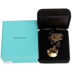 Tiffany & Co. Elsa Peretti 18 Karat Yellow Gold Pendant Necklace