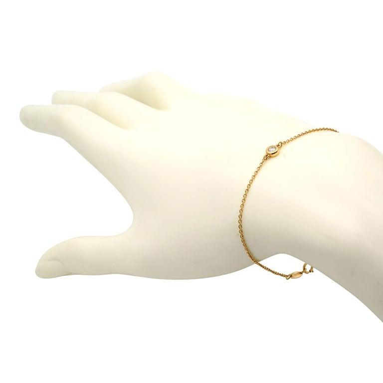 Modern Tiffany & Co Elsa Peretti 18K Rose Gold Single Diamonds Bracelet 0.08cttw