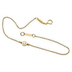 Tiffany & Co Elsa Peretti 18K Rose Gold Single Diamonds Bracelet 0.08cttw