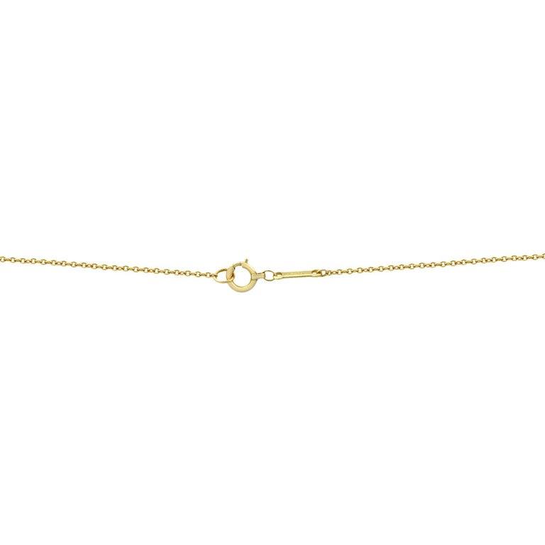 Women's Tiffany & Co. Elsa Peretti 18 Karat Yellow Gold Diamond Cross Pendant 0.25 Carat For Sale