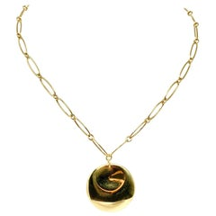 Tiffany & Co. Elsa Peretti 18 Karat Yellow Gold Round Pendant Necklace