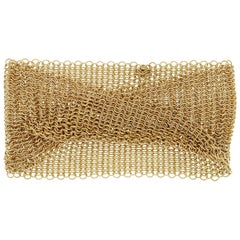 Tiffany & Co. Elsa Peretti 81 Grams 18 Karat Yellow Gold Mesh Bracelet