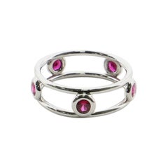 Tiffany & Co. Elsa Peretti Color by the Yard Ring Platinum and Rubies 4.5-48
