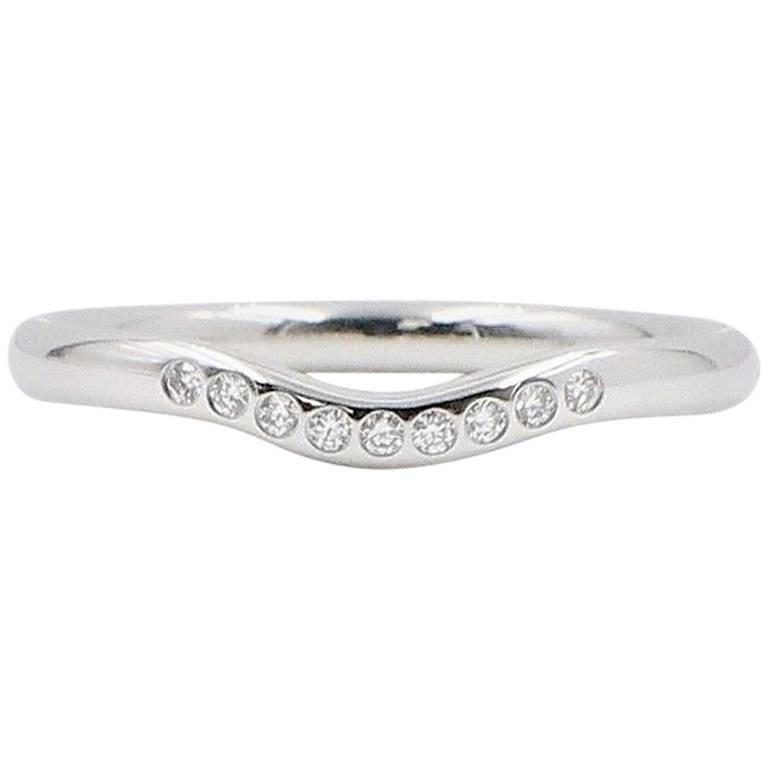 Tiffany And Co Elsa Peretti Curved Diamond Wedding Band