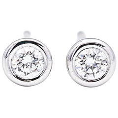 Tiffany & Co. Elsa Peretti Diamond-by-the-Yard Bezel Set Stud Earrings