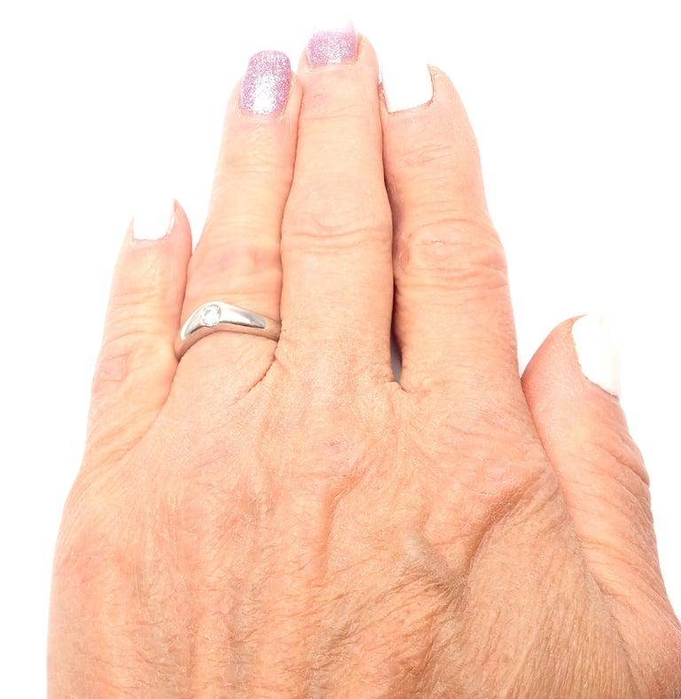 Tiffany And Co Elsa Peretti Diamond Platinum Band Ring
