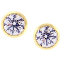 Tiffany & Co. Elsa Peretti Diamonds by the Yard Certified Stud Earrings