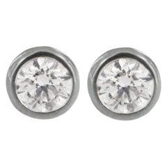 Tiffany & Co. Elsa Peretti Diamonds by the Yard Earrings in Platinum 0.5 Carat