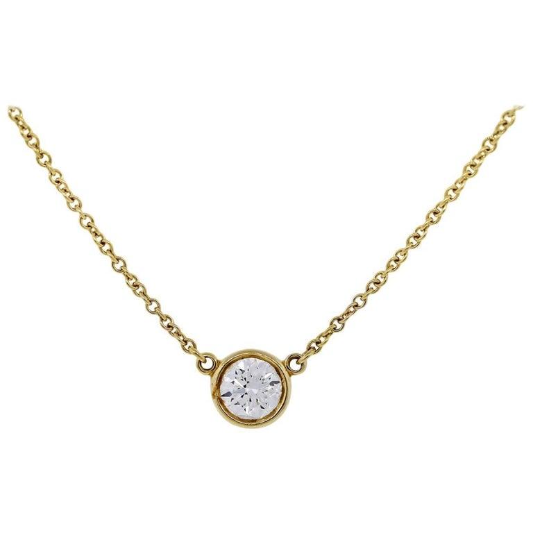 bdc9d1073 Tiffany & Co. Elsa Peretti Diamonds by The Yard Pendant Necklace For Sale