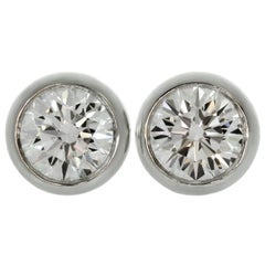 Tiffany & Co. Elsa Peretti Diamonds by the Yard White Gold Stud Earrings