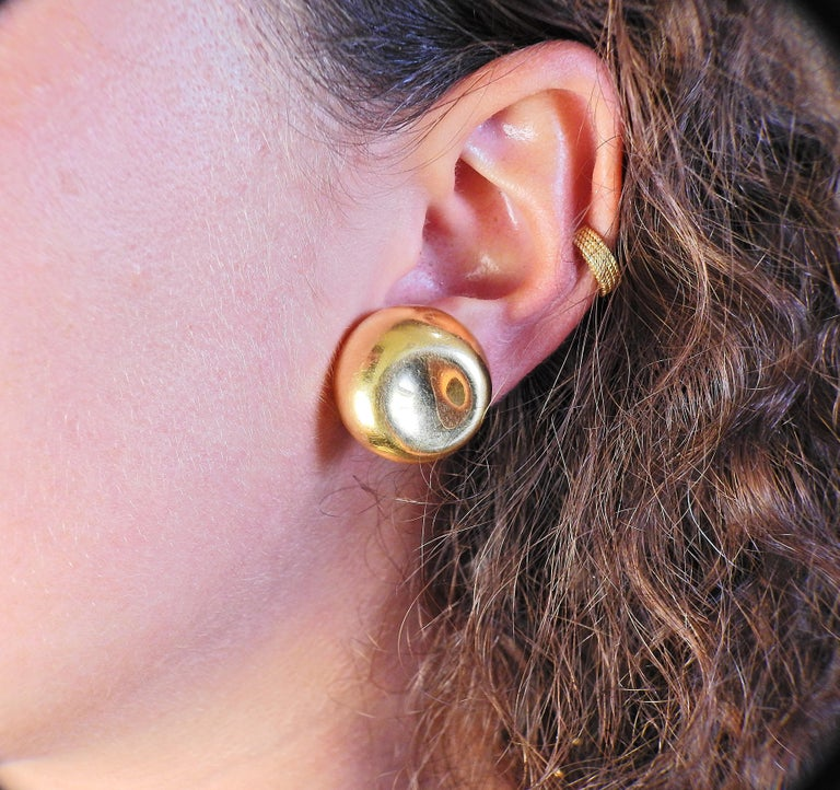 Tiffany & Co. Elsa Peretti Gold Earrings For Sale 1