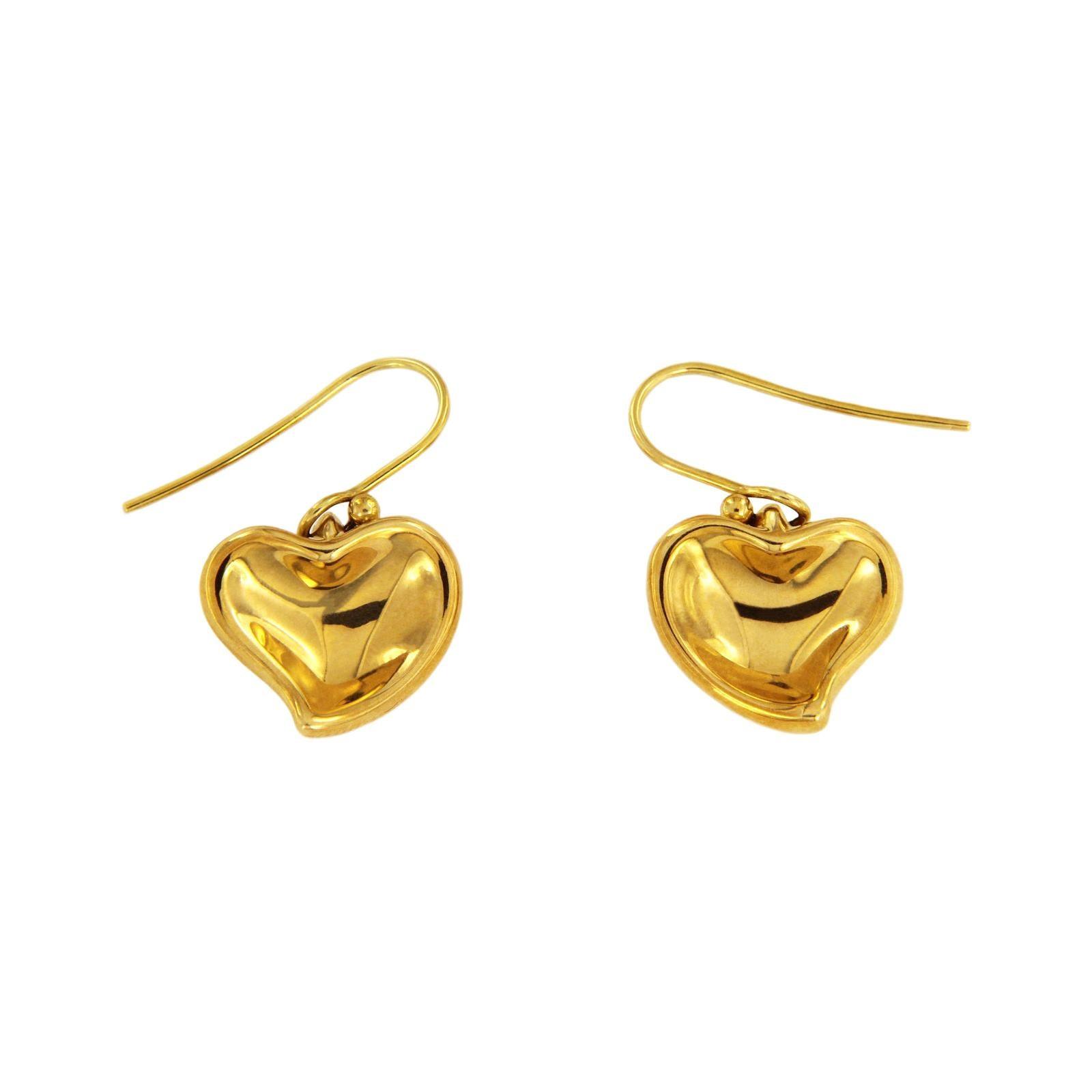 Open Heart Hoop Earrings