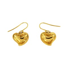 Tiffany & Co. Elsa Peretti Gold Heart Drop Earrings