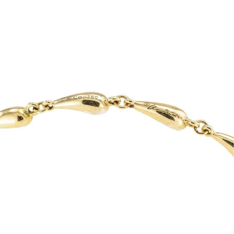 Tiffany & Co Elsa Peretti Gold Link Bracelet For Sale 1