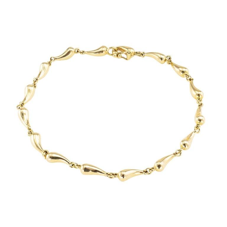 Tiffany & Co Elsa Peretti Gold Link Bracelet For Sale
