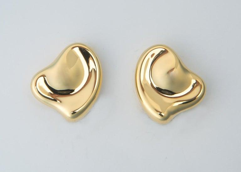 Contemporary Tiffany & Co. Elsa Peretti Heart Motif Earrings For Sale