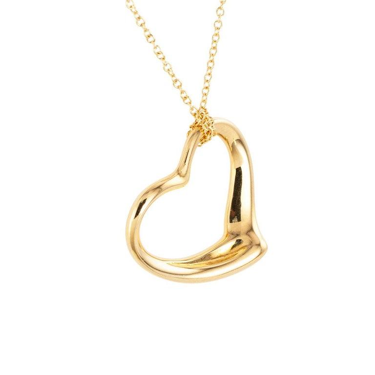 Contemporary Tiffany & Co. Elsa Peretti Heart Shaped Yellow Gold Pendant For Sale